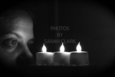 candles bw
