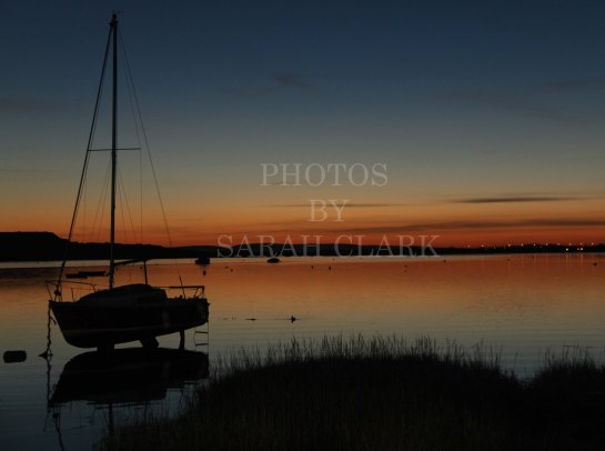 mudeford boat sunset